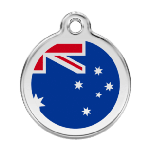 Australian Flag Pet Tag by Red Dingo