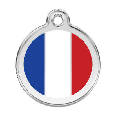 French Flag Pet Tag by Red Dingo