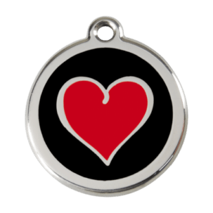 Coloured Heart Pet Tag by Red Dingo