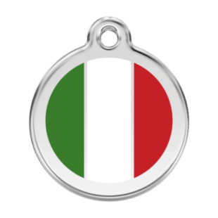 Italian Flag Pet Tag by Red Dingo