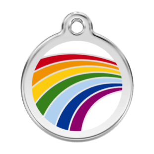 Rainbow ID Pet Tag
