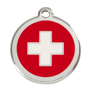 Swiss Cross Pet Tag by Red Dingo