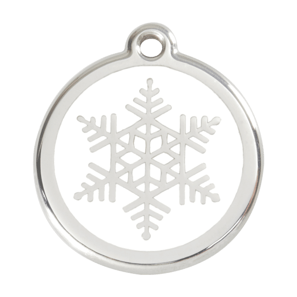 Snowflake Pet Tag by Red Dingo