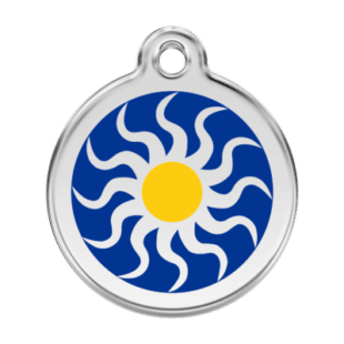 Tribal Sun Pet Tag by Red Dingo