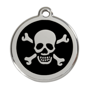 Skull & Crossbones Pet Tag by Red Dingo