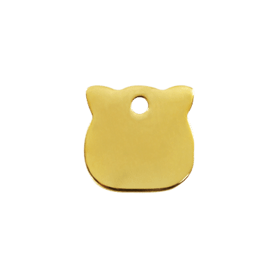 Cat Head Pet Tag by Red Dingo