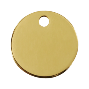 Brass Circle Pet Tag