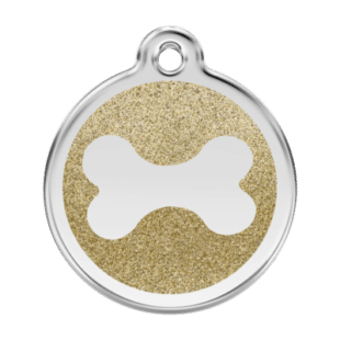 Glitter Bone Pet Tag by Red Dingo