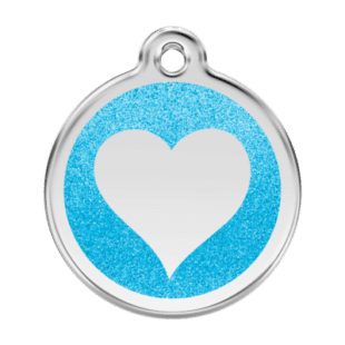 Glitter Heart Pet Tag by Red Dingo