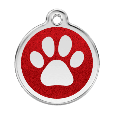 Glitter Paw Print Dog Tag (Copy)