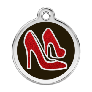 Glitter Red Shoe Pet Tag by Red Dingo