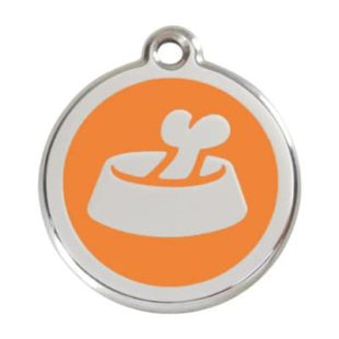 Bone in Bowl Pet Tag by Red Dingo