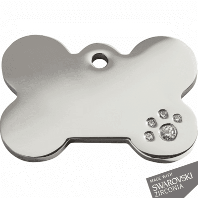 Diamante Bone ID Dog Tag