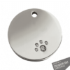 Diamante Circle ID Dog Tag